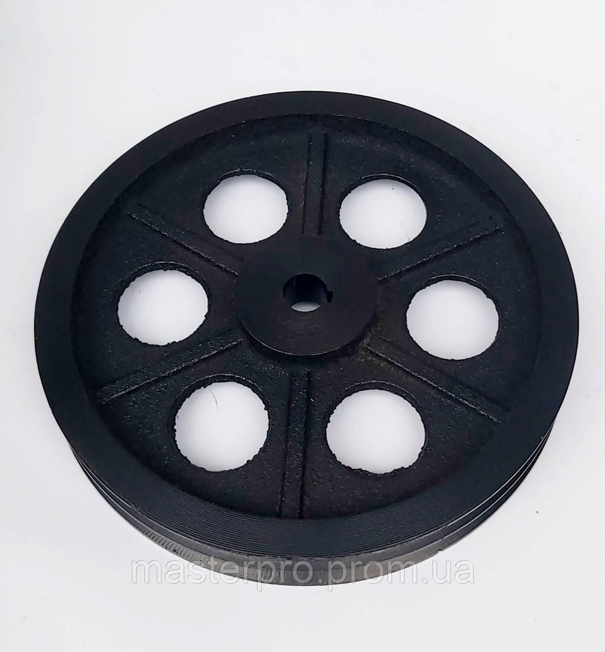 Шкив на вал 25 мм 300 мм 2 - ручья профиль Б