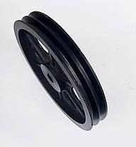Шкив на вал 25 мм 300 мм 2 - ручья профиль Б, фото 2