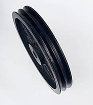Шкив на вал 25 мм 300 мм 2 - ручья профиль Б, фото 3