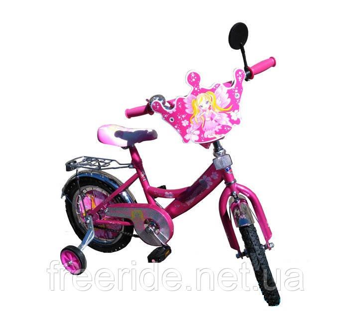 Детский Велосипед Mustang Принцесса 12 + корзинка