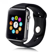 Смарт часы Smart Watch A1, Sim cart + камера, black