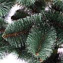 Елка зеленая искусственная с белыми кончиками на новый год, фото 3