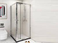 Tinto Душевая кабина 90*90 б/п, проф. сатин, стекло прозр.(6мм), раздвижн.внутрь 49020709 ASIGNATURA