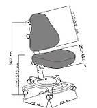 Комплект растущая парта FunDesk Amare Grey с выдвижным  ящиком + ортопедическое кресло FunDesk Bravo, фото 7
