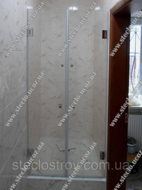 Стеклянные  двери для душа из прозрачного стекла