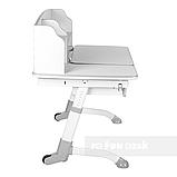 Комплект парта для будинку FunDesk Amare Grey II з висувним ящиком+ ортопедичне крісло FunDesk Bravo Green, фото 4