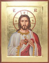 Картини за номерами - Ікона Ісус у серці | Riviera Blanca™ 40х50 див. | RBI-008