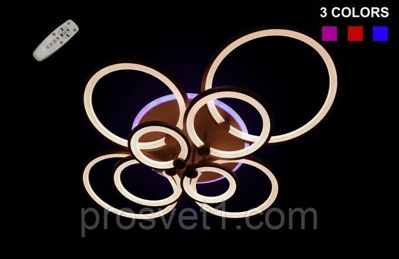 Светодиодная припотолочная люстра на три режима света , модель 1811/8CF LED Dimmer