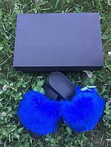 Женские летние меховые тапочки, фото 2