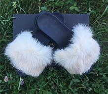 Жіночі літні хутряні капці, фото 2