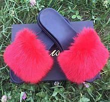 Женские летние меховые тапочки, фото 3