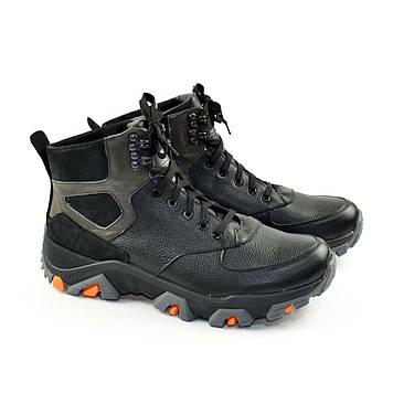 Ботинки мужские комбинированные на шнуровке