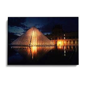 """Картина зі світлодіодним підсвічуванням, нічник, LED Картина """"Лувр"""""""