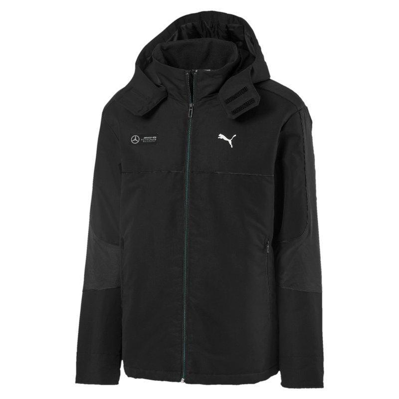 Куртка спортивная мужская Puma MAPM RCT 595347 01  (черная, осень-зима, прямого кроя, логотип пума)