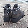 Серые ботинки дутики на платформе бронзовые женские высокие ПРОШИТЫ деми демисезон, фото 4