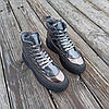 Серые ботинки дутики на платформе бронзовые женские высокие ПРОШИТЫ деми демисезон, фото 5