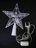 Светящаяся верхушка Звезда на елку размер 15*15 см, фото 3