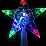 Светящаяся верхушка Звезда на елку размер 15*15 см, фото 2