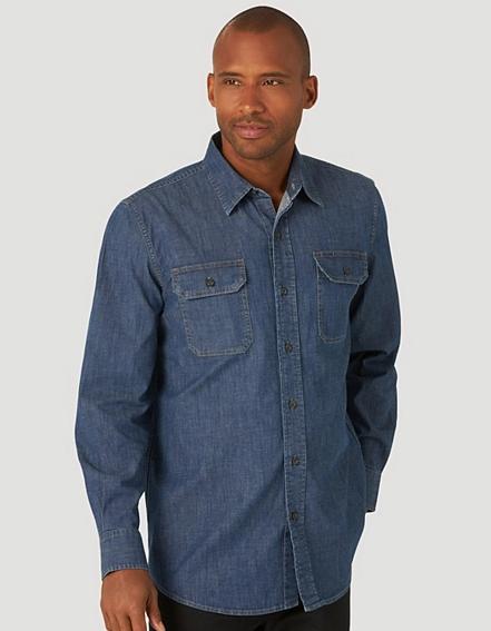 Рубашка джинсовая Wrangler - Heritage Wash