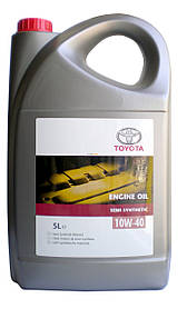 Масло полусинтетическое Toyota 10W-40 ENGINE OIL 5L (Оригинал)  (Моторное)