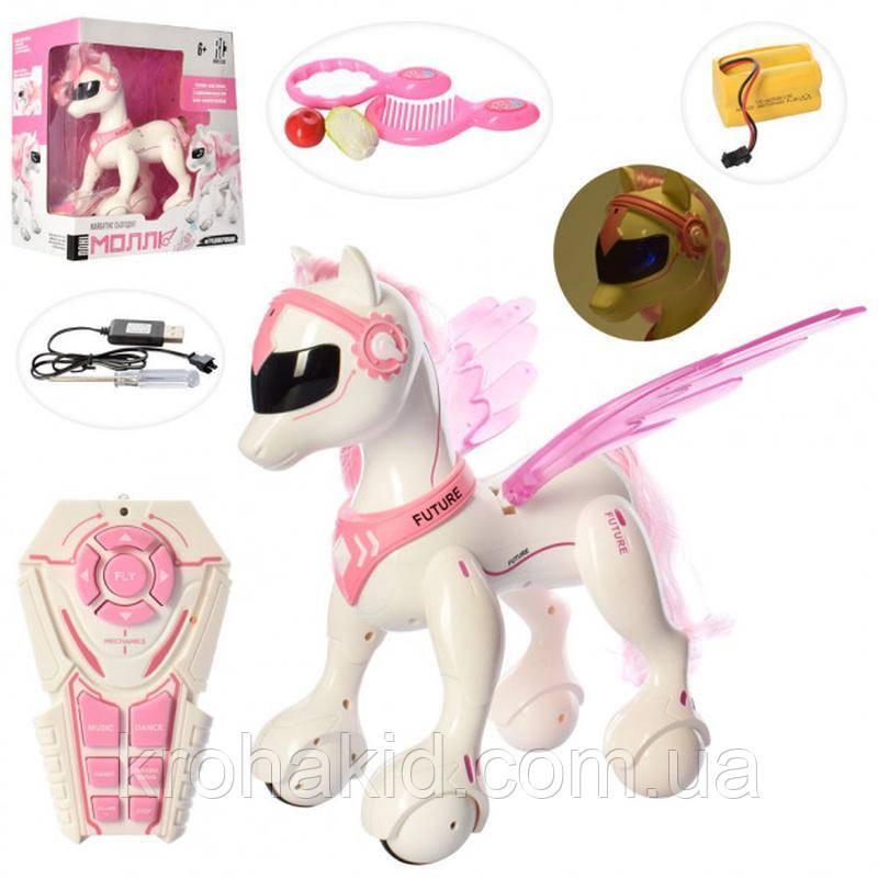 Интерактивная игрушка лошадка пони единорог RC 0002 Райли (Пегас) на радиоуправлении