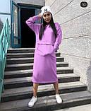 Теплое платье женское Трехнитка на флисе Размер 42 44 46 48 50 52 54 56 Разные цвета, фото 5