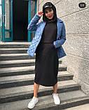 Теплое платье женское Трехнитка на флисе Размер 42 44 46 48 50 52 54 56 Разные цвета, фото 4