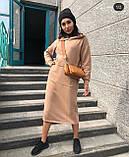 Теплое платье женское Трехнитка на флисе Размер 42 44 46 48 50 52 54 56 Разные цвета, фото 2