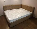 Угловая кровать Лион в мягкой обивке, фото 2