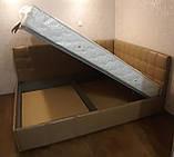 Угловая кровать Лион в мягкой обивке, фото 3