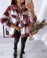 Женская теплая рубашка в клетку Elba, фото 1
