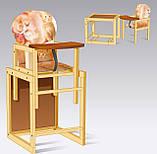 Стульчик для кормления деревянный Большой Мася, фото 2
