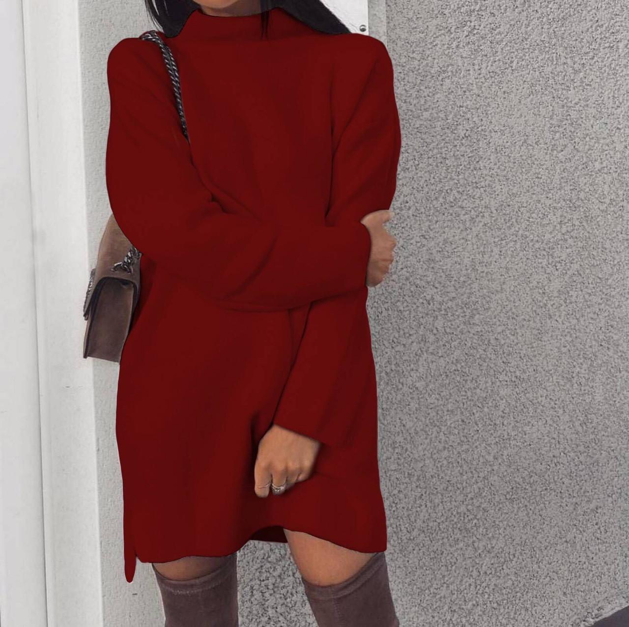 Женское платье свободного кроя Ангора Размер 42 44 46 48 50 52 54 56 В наличии 3 цвета