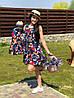 Family look одинаковые летние платья мама + дочка, фото 2