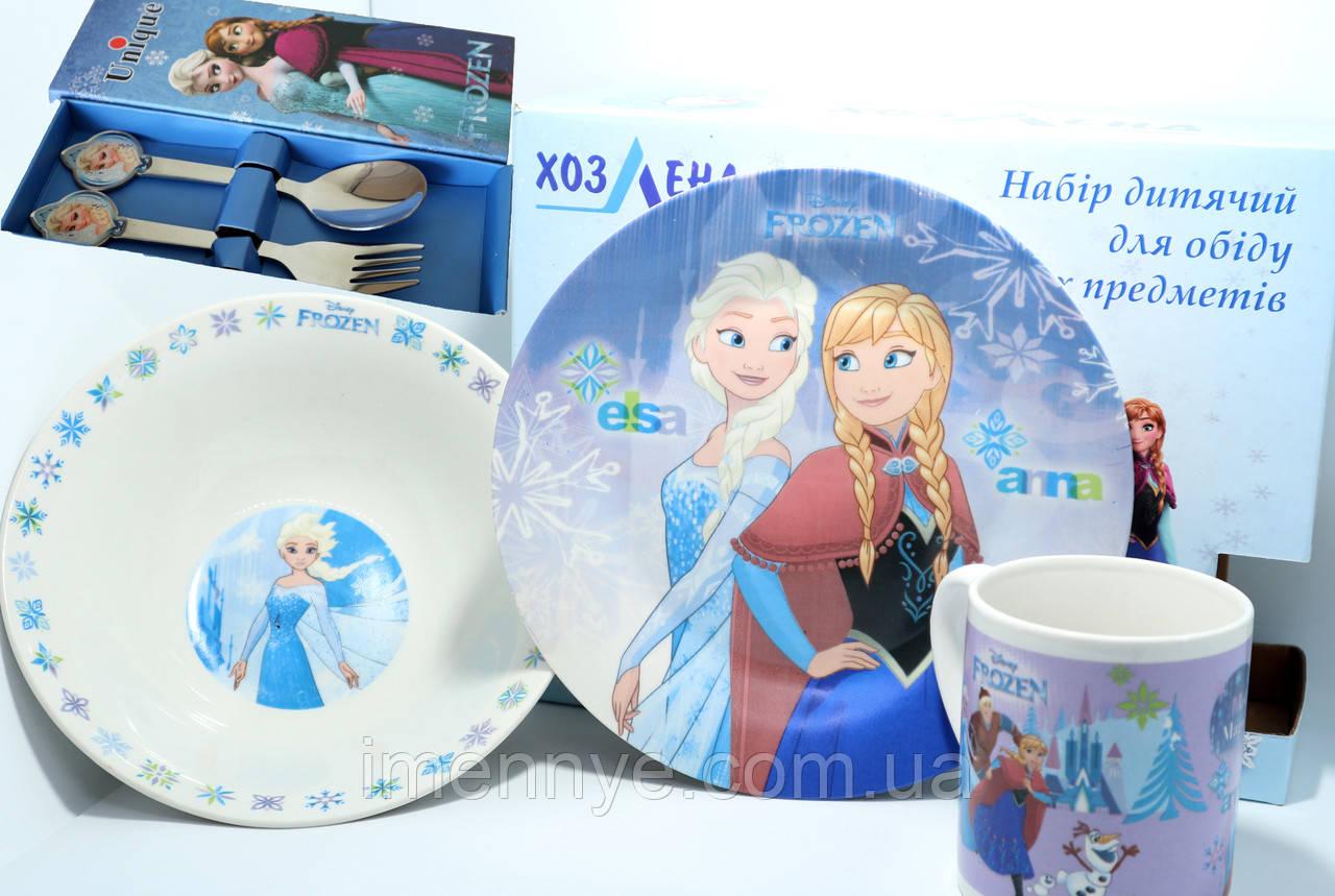 Посуда 5в1 холодное сердце Эльза