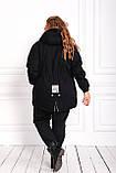 Женская зимняя куртка парка Джинс коттон на меху Размер 48 50 52 54 56 58 60 62 64 66 Разные цвета, фото 7