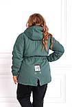Женская зимняя куртка парка Джинс коттон на меху Размер 48 50 52 54 56 58 60 62 64 66 Разные цвета, фото 3