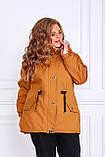 Женская зимняя куртка парка Джинс коттон на меху Размер 48 50 52 54 56 58 60 62 64 66 Разные цвета, фото 5