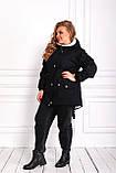 Женская зимняя куртка парка Джинс коттон на меху Размер 48 50 52 54 56 58 60 62 64 66 Разные цвета, фото 2