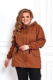 Женская зимняя куртка парка Джинс коттон на меху Размер 48 50 52 54 56 58 60 62 64 66 Разные цвета, фото 6