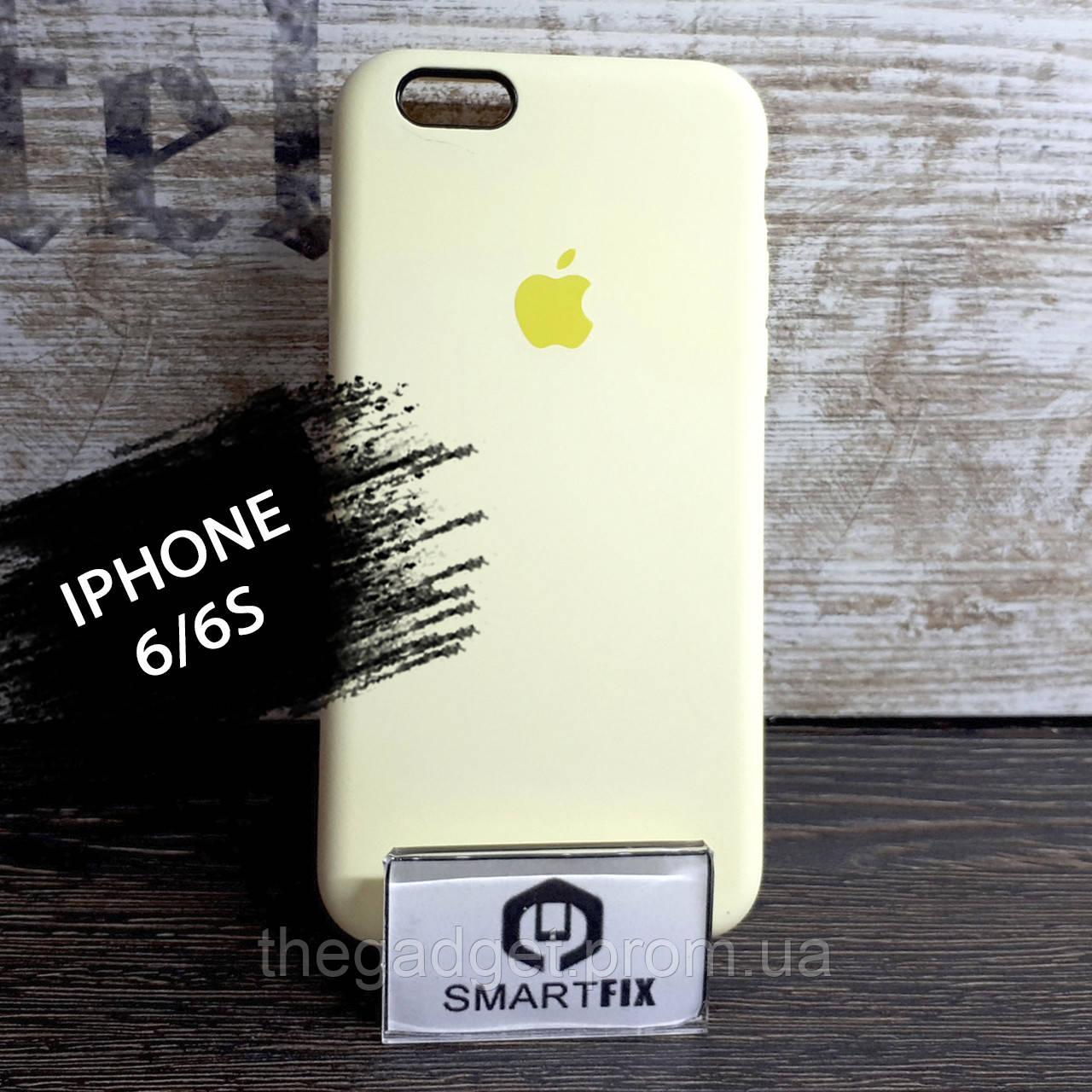 Силиконовый чехол для iPhone 6/6S Soft Бледно-желтый