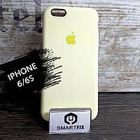 Силиконовый чехол для iPhone 6/6S Soft Бледно-желтый, фото 1
