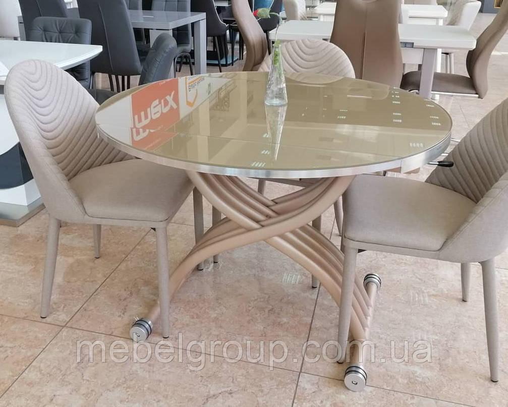 Стол TMT-33 кремовый 105*67-105*27,5-76