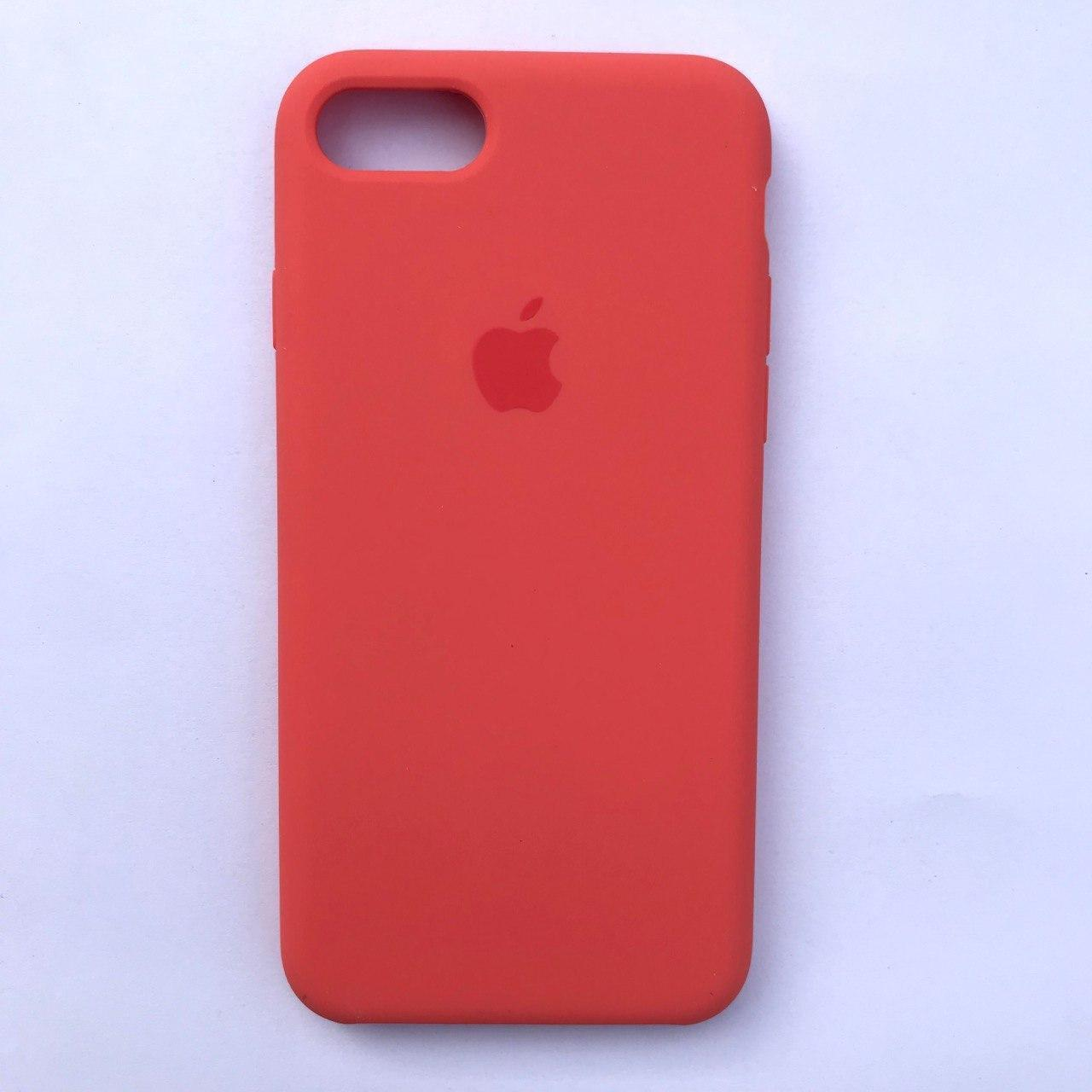 Чехол Silicone Case для Apple iPhone 7, 8 Apricot Orange