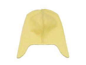 Флисовая подкладка для шапки с ушками 42см, Желтая