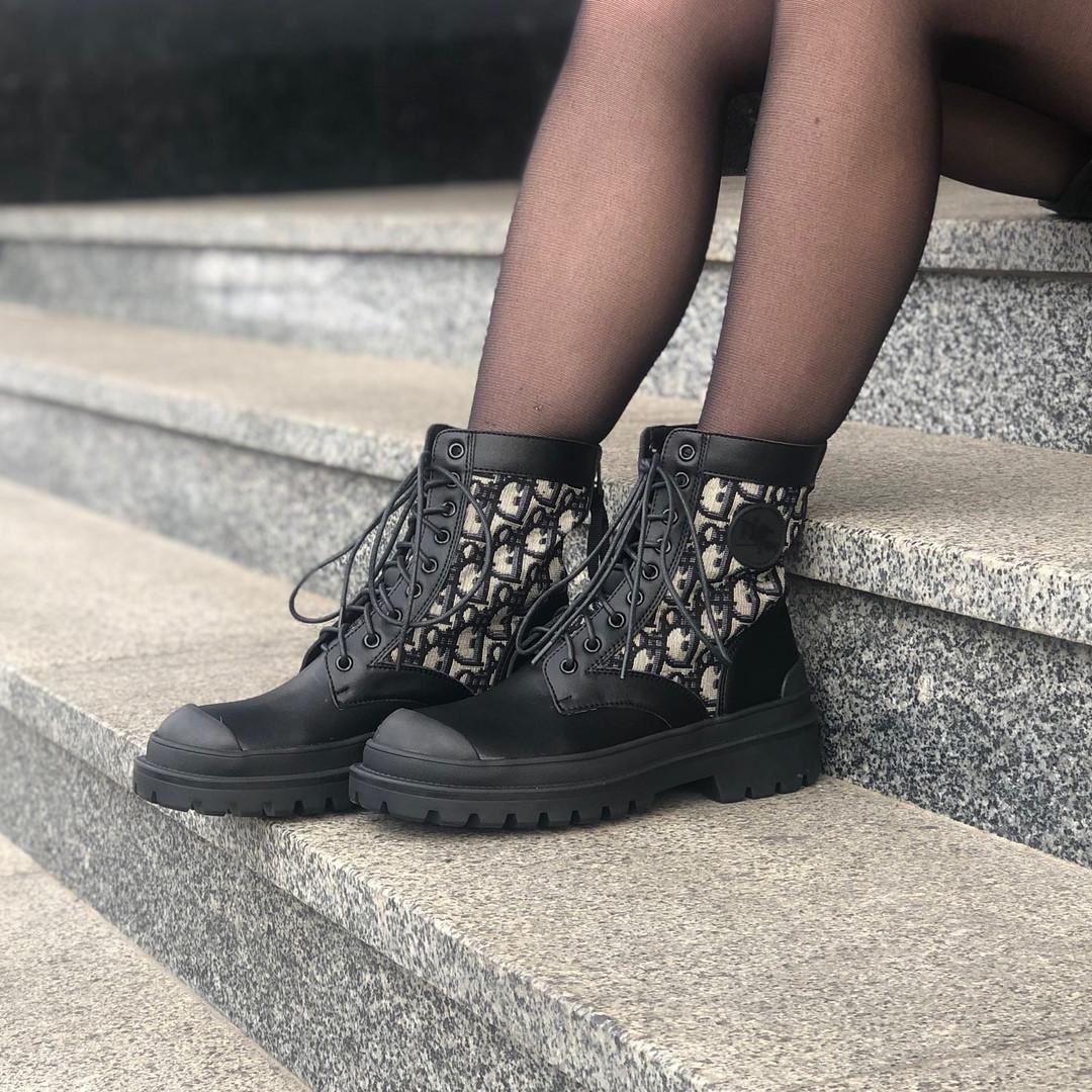 """Женские ботинки в стиле Dior Boots """"Black"""""""