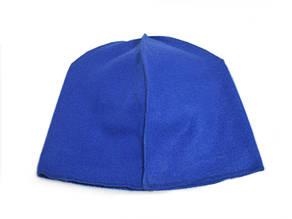 Флисовая подкладка для шапки 43см, Синий