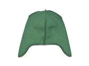Флисовая подкладка для шапки с ушками 42см, Зеленая