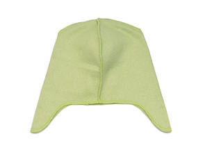 Флісова підкладка для шапки з вушками 42см, Салатовий