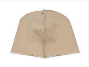 Флисовая подкладка для шапки 46,5см, Беж